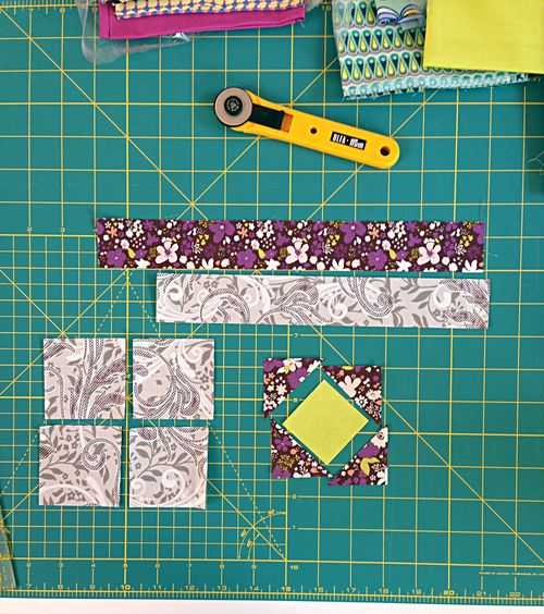 Hopfaldera: Diamond Cross quilt block tutorial